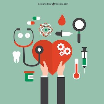 Gesundheits- und Krankenpflege-Konzept
