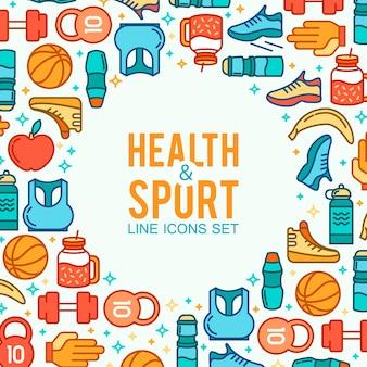 Gesundheits- und Sport-Elemente Rahmen