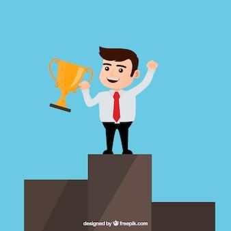 Gewinner Geschäftscharakter