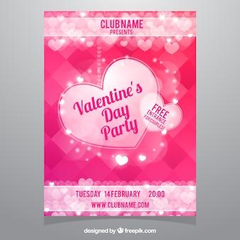 Glänzende abstrakte Partei valentine Broschüre