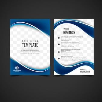 Glänzende Broschüre Design