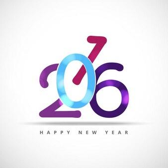 Glänzende bunte neue Jahr 2016 Karte