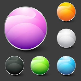 Glänzende modernen Kreisen