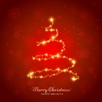 Glänzenden Weihnachtsbaum
