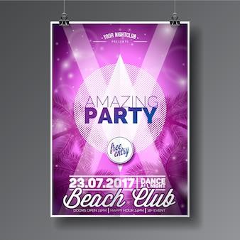 Glänzendes Partyplakat