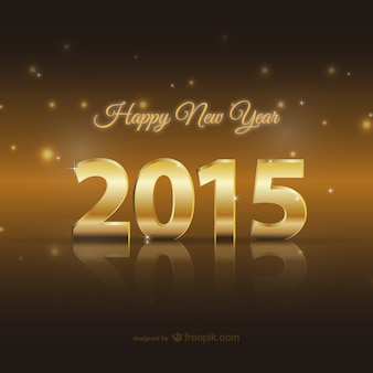 Glückliche 2015 goldene Karte