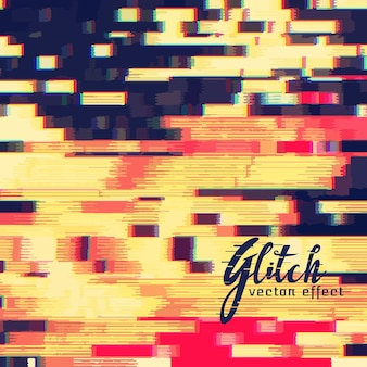 Glitch-Vektor-Effekt-Design-Hintergrund