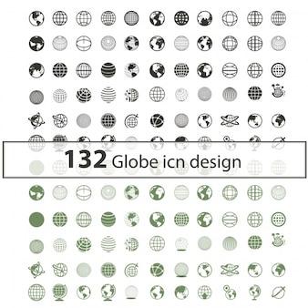Globe Icon Sammlung
