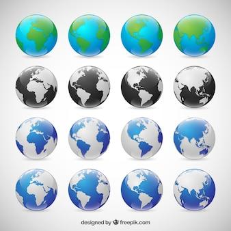 Globes Sammlung