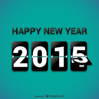 Glücklich 2015 vector kostenlos