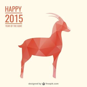 Glückliche 2015 Jahr der Ziege