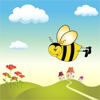 Glückliche Biene