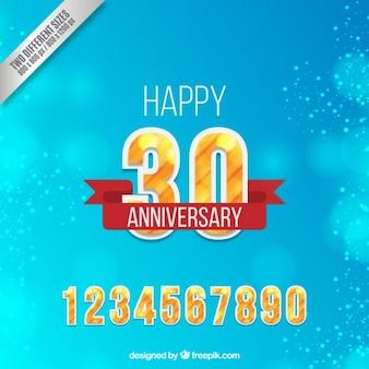 Glückliche dreißig Jubiläum