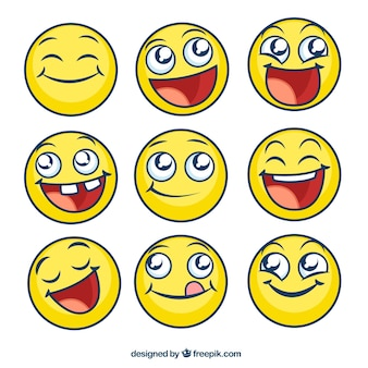 Glückliche Emoticons