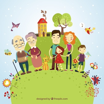 Glückliche Familie Illustration