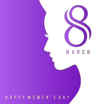 Glückliche Frauen Tag Schriftzug Lila Hintergrund