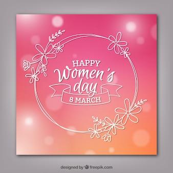 Glückliche Frauen Tagskarte