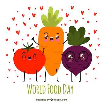 Glückliche Karotte, Tomate und Rote Beete