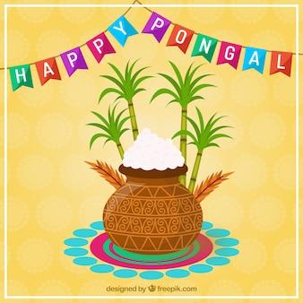 Glückliche Pongal-Karte
