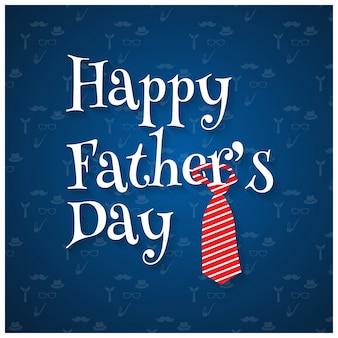 Glückliche Vatertag Muster Hintergrund Blauer Hintergrund