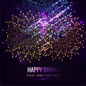 Glückliches Diwali bunte Feuerwerk Hintergrund