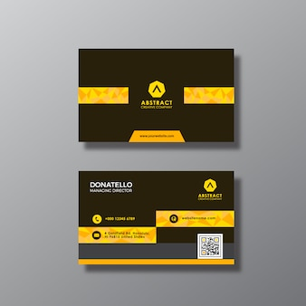 Gold und schwarzer Visitenkartenentwurf