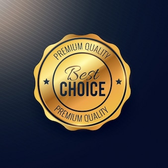 Golden beste Wahl Abzeichen Design
