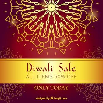 Golden diwali Verkauf Hintergrund