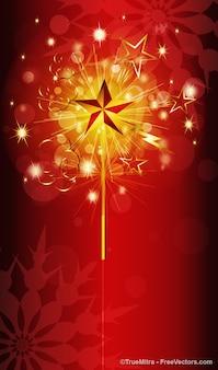 Golden glänzt mit roten Blasen