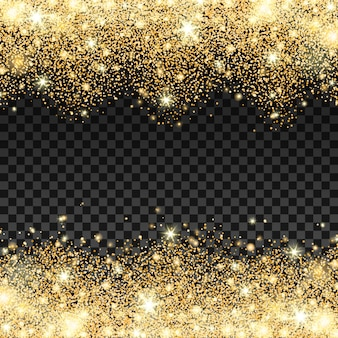 Golden Sparkles fallen Hintergrund Vektor-Illustration