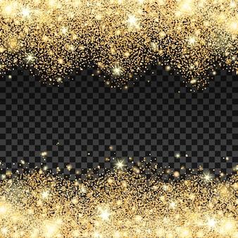 Golden Sparkles fallen Hintergrund Vektor-Illustration