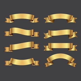Goldene Farbbänder packen