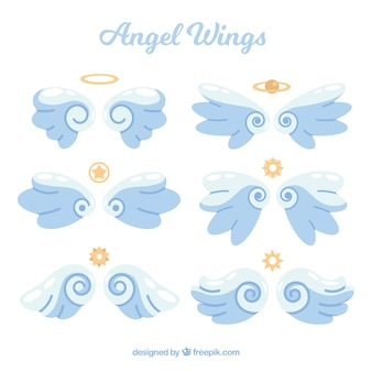 Goldene Flügel und Symbole