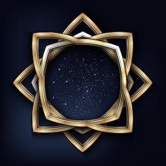 Goldene Form Hintergrund
