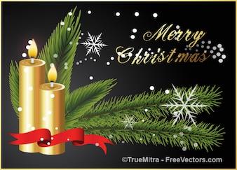 Goldene Kerzen Weihnachten Hintergrund