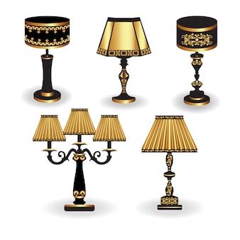 Goldene Lampen Sammlung