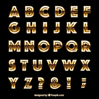 Goldene Typografie im Retro-Stil