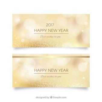 Goldene unkonzentriert neue Jahr Banner