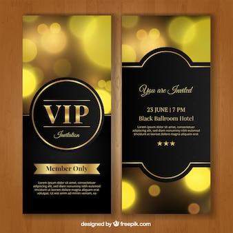 Goldene vip Einladung