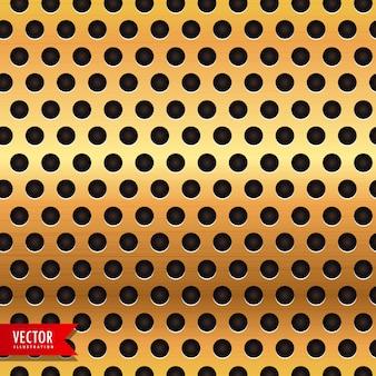 Goldenen Kreis Metall Textur Vektor Hintergrund