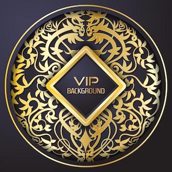 Goldener Mandala Hintergrund Design