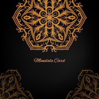 Goldener Mandala Hintergrund