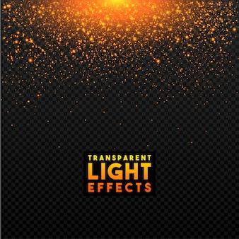 Goldener transparenter Lichteffekt.
