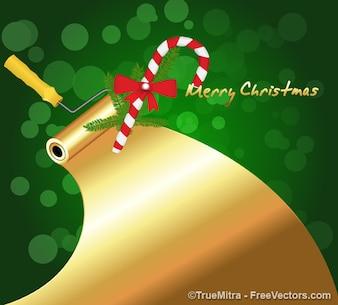 Goldfarbe Weihnachten roller
