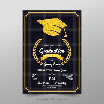 Graduierung Poster Vorlage