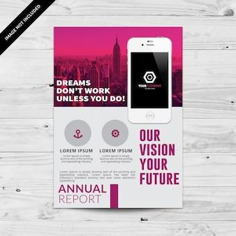 Graue und rosa Business Broschüre