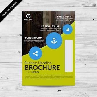 Green Business Broschüre mit blauen Kreisen