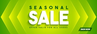 Green Social Media Banner für Saison Sale.