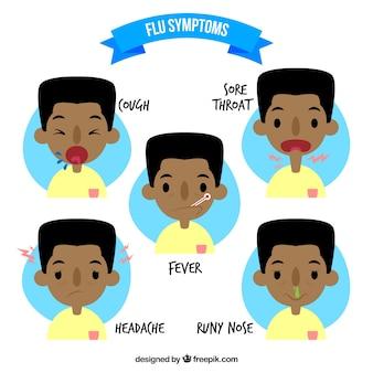 Grippe-Symptome packen