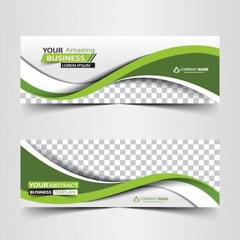 Grün abstrakt Business-Header